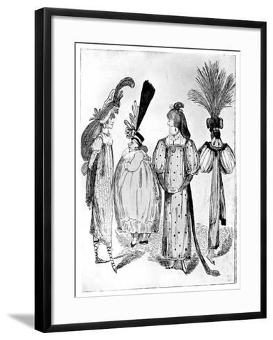 Waggoners Frocks or No Bodys of 1795, 1795--Framed Art Print