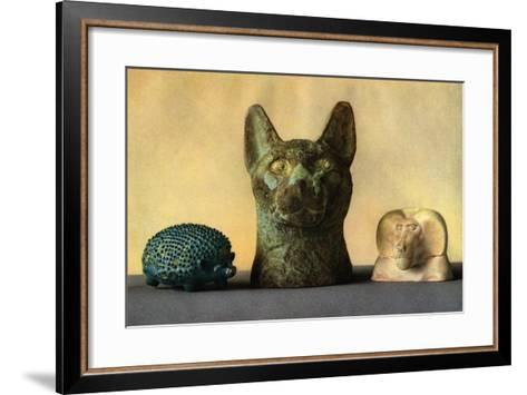 Animal Carvings from the New Kingdom and Late Period, Egypt, 1936--Framed Art Print