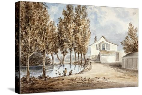Duck Pond at St Marylebone, C1802--Stretched Canvas Print