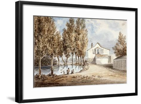 Duck Pond at St Marylebone, C1802--Framed Art Print