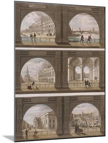 Six Views of London Sites Seen Through an Arch, C1820--Mounted Giclee Print