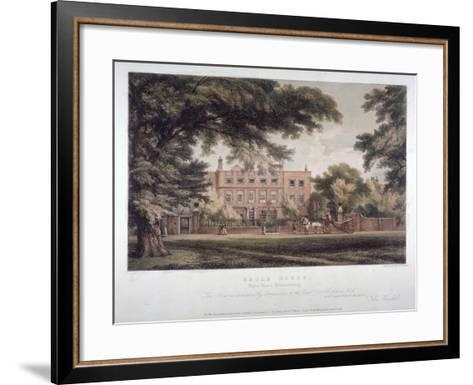 View of Eagle House, Brook Green, Hammersmith, London, C1810-Day & Haghe-Framed Art Print