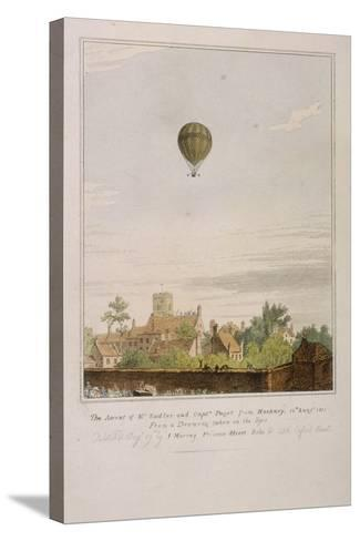 View of James Sadler's Balloon over Mermaid Gardens, Hackney, London, 1811--Stretched Canvas Print