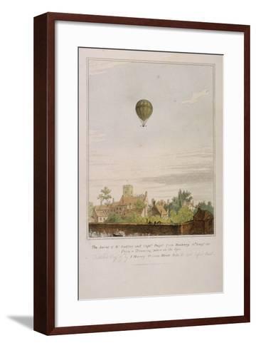 View of James Sadler's Balloon over Mermaid Gardens, Hackney, London, 1811--Framed Art Print