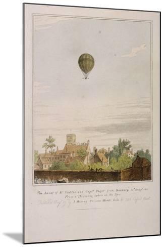 View of James Sadler's Balloon over Mermaid Gardens, Hackney, London, 1811--Mounted Giclee Print