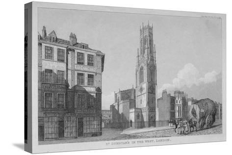 Church of St Dunstan in the West, Fleet Street, City of London, 1832--Stretched Canvas Print