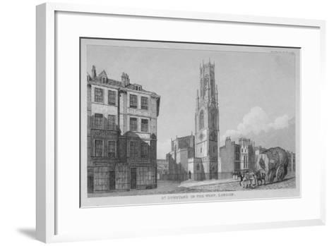 Church of St Dunstan in the West, Fleet Street, City of London, 1832--Framed Art Print