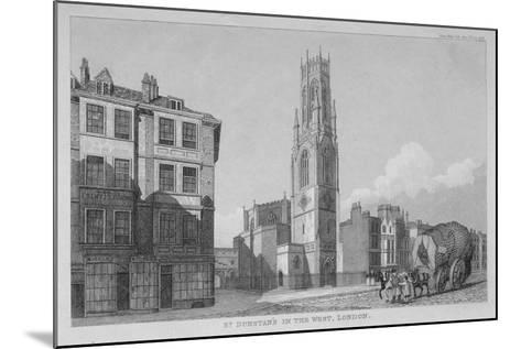 Church of St Dunstan in the West, Fleet Street, City of London, 1832--Mounted Giclee Print