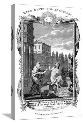 King David Looking Down at Bathsheba, C1804--Stretched Canvas Print