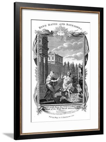 King David Looking Down at Bathsheba, C1804--Framed Art Print