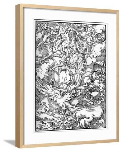 Sketch for 'The Last Judgement' in Gerard D'Euphrate, Paris, 1549--Framed Art Print