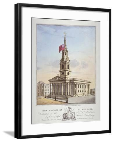 Church of St Martin-In-The-Fields, Westminster, London, C1825-David Laing-Framed Art Print