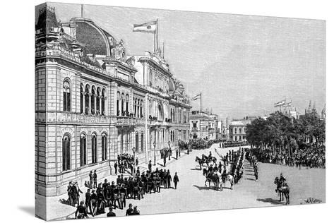 Congress Buildings, Buenos Aires, Argentina, 1895--Stretched Canvas Print
