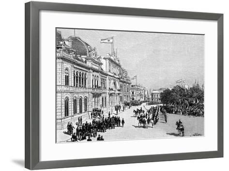 Congress Buildings, Buenos Aires, Argentina, 1895--Framed Art Print
