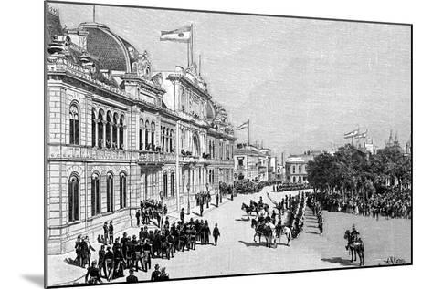 Congress Buildings, Buenos Aires, Argentina, 1895--Mounted Giclee Print
