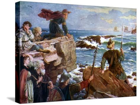 How the Danes Came Up the Channel a Thousand Years Ago, 1925-Herbert A Bone-Stretched Canvas Print