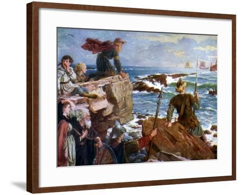 How the Danes Came Up the Channel a Thousand Years Ago, 1925-Herbert A Bone-Framed Art Print