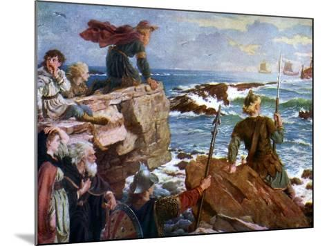 How the Danes Came Up the Channel a Thousand Years Ago, 1925-Herbert A Bone-Mounted Giclee Print