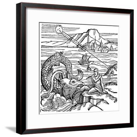 Jonah Being Spewed Up by the Whale, 1557--Framed Art Print