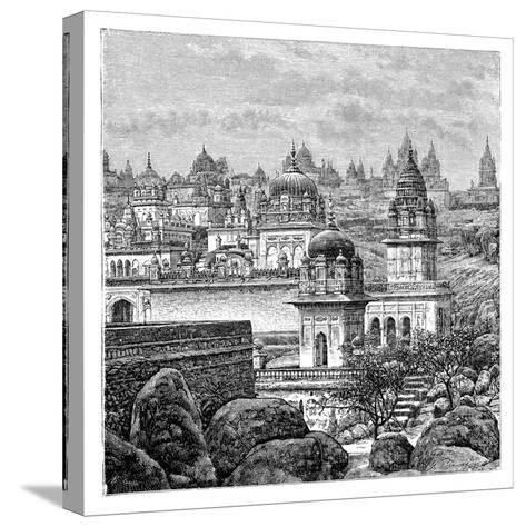 Jaina Temples, Junagadh, Gujarat, India, 1895--Stretched Canvas Print