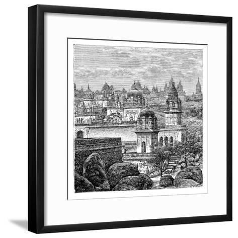 Jaina Temples, Junagadh, Gujarat, India, 1895--Framed Art Print