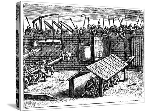 Roman Siege Warfare, 1605--Stretched Canvas Print