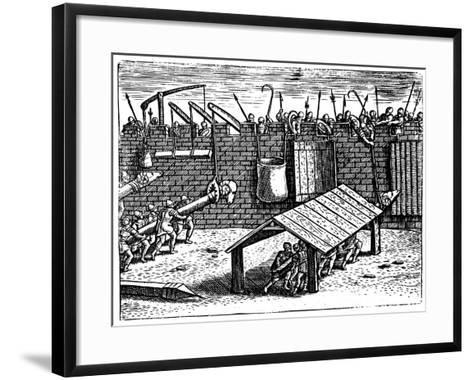 Roman Siege Warfare, 1605--Framed Art Print