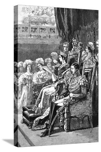 The Queen Opening Parliament, 1846--Stretched Canvas Print