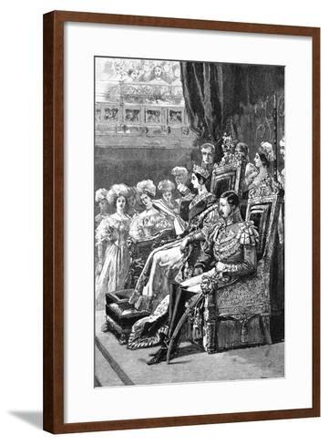 The Queen Opening Parliament, 1846--Framed Art Print