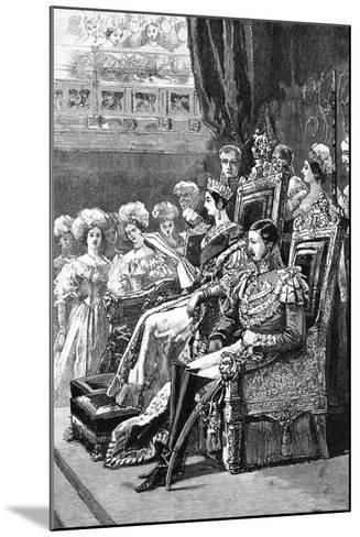 The Queen Opening Parliament, 1846--Mounted Giclee Print