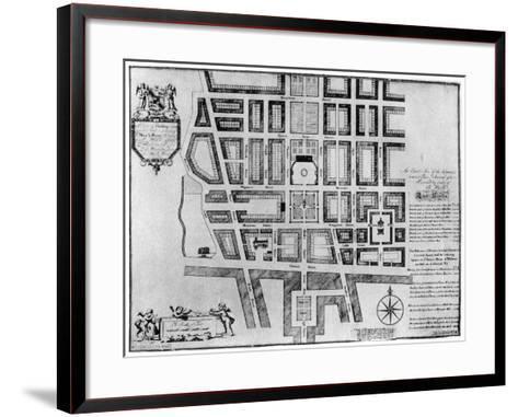 Plan of Lord Harley's Estate, London, 1907--Framed Art Print