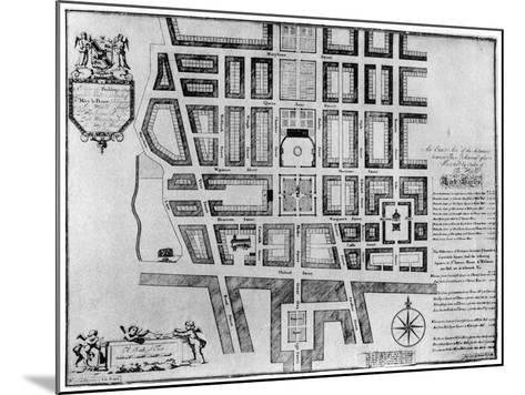 Plan of Lord Harley's Estate, London, 1907--Mounted Giclee Print