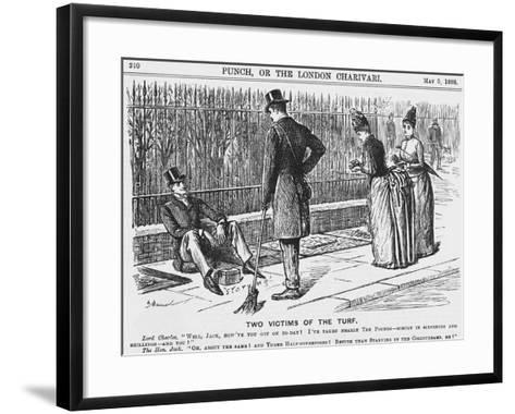 Two Victims of the Turf, 1888-George Du Maurier-Framed Art Print