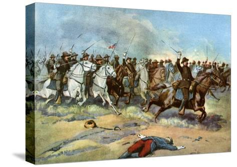 Cavalry Charge by Us Regulars, Spanish-American War, 1898--Stretched Canvas Print