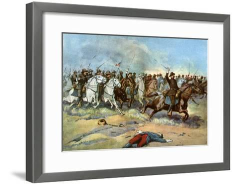 Cavalry Charge by Us Regulars, Spanish-American War, 1898--Framed Art Print
