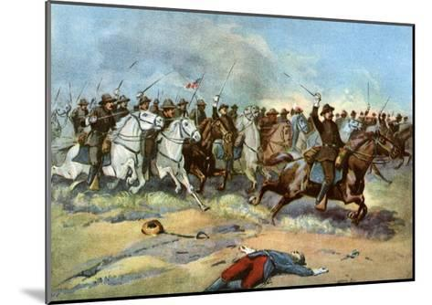 Cavalry Charge by Us Regulars, Spanish-American War, 1898--Mounted Giclee Print