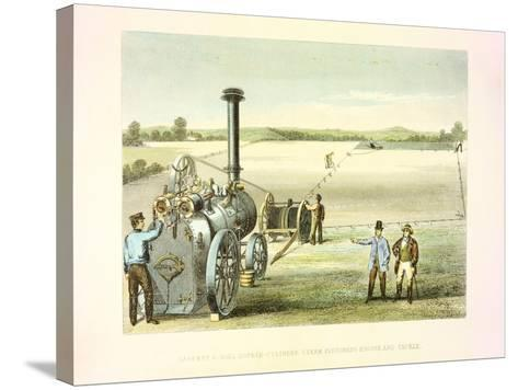 Steam Ploughing Tackle, C1860--Stretched Canvas Print
