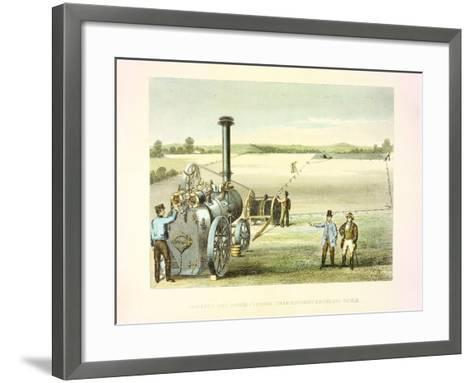 Steam Ploughing Tackle, C1860--Framed Art Print