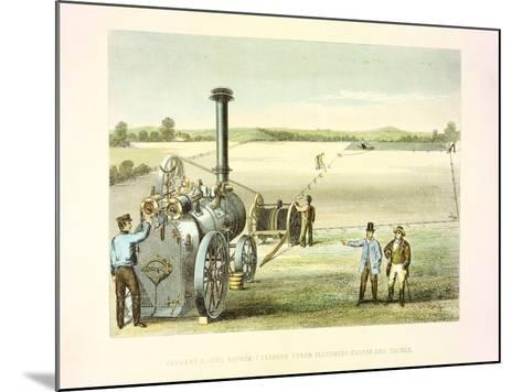 Steam Ploughing Tackle, C1860--Mounted Giclee Print
