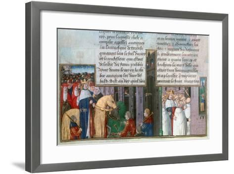 St Louis Returns to Paris, and St Louis Among the Priests, Mid-13th Century--Framed Art Print