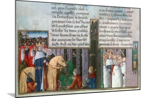 St Louis Returns to Paris, and St Louis Among the Priests, Mid-13th Century--Mounted Giclee Print