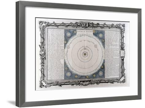 Descartes' System of the Universe, 17th Century--Framed Art Print