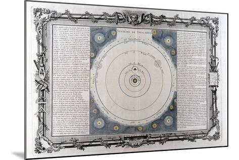 Descartes' System of the Universe, 17th Century--Mounted Giclee Print