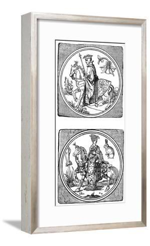 Ancient Playing Cards: King and Queen--Framed Art Print