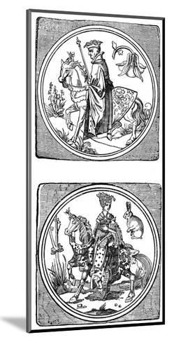 Ancient Playing Cards: King and Queen--Mounted Giclee Print