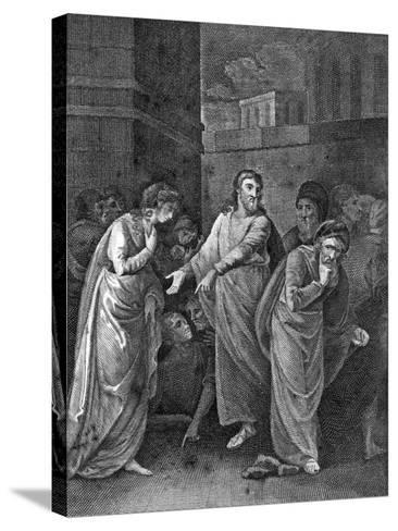 A Woman Accused of Adultery, 1813--Stretched Canvas Print