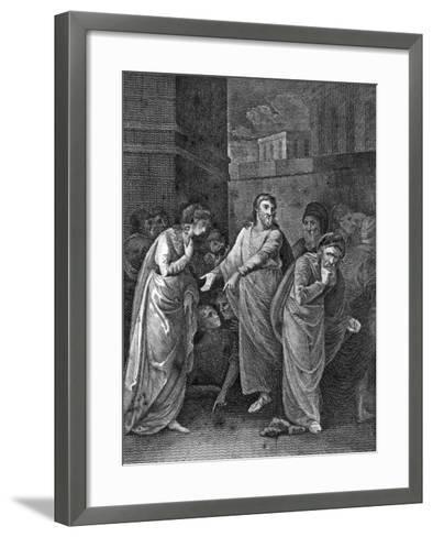 A Woman Accused of Adultery, 1813--Framed Art Print