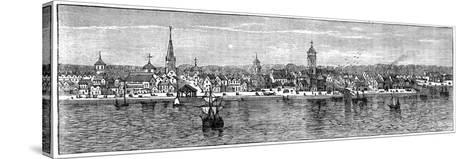 New York in the Middle of the 18th Century--Stretched Canvas Print