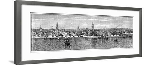 New York in the Middle of the 18th Century--Framed Art Print