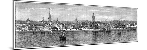 New York in the Middle of the 18th Century--Mounted Giclee Print